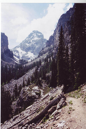Middle Teton viewed from Garnet Canyon