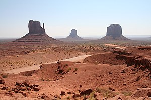 A photograph taken of Monument Valley, Navajo ...