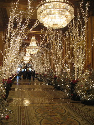 Lobby of the Roosevelt Hotel, New Orleans