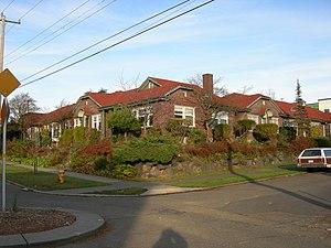 Garden apartments, Squire Park, Seattle, Washi...