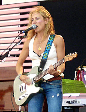 Sheryl Crow performing at the Crossroads Guita...