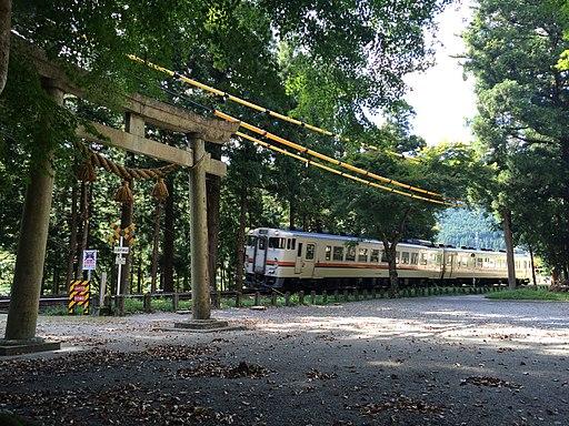 Shimohara hachiman shrine JR Takayama Line,Gero city,Gifu,Japan