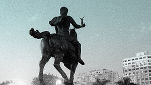English: Statue of Alexander the Great riding ...