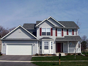 American Two-story single-family home