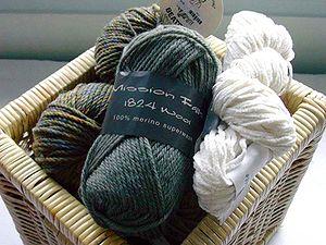 A basket of yarn