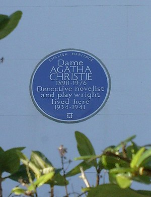 English: Agatha Christie blue plague. No.58 Sh...