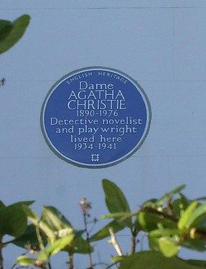 English: Agatha Christie blue plague. No.58 Sh...