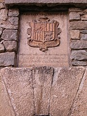 Escudo de Andorra en la Casa de la Vall