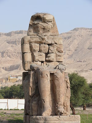 English: The eastern figure of the Colossi of ...