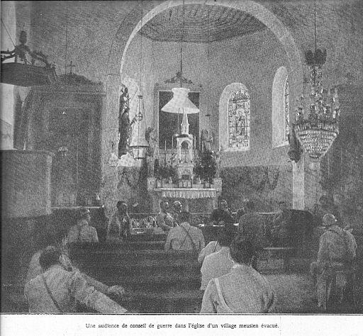 Conseil de guerre dans une église désaffectée de la Meuse