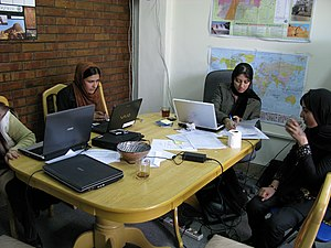 Female students at Kabul University.