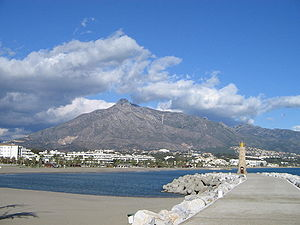 Harbor in Puerto Banus, Costa del Sol, Spain, ...
