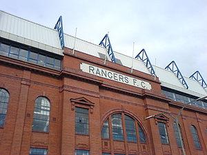 Front facade of Ibrox Stadium