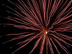 English: Fireworks display