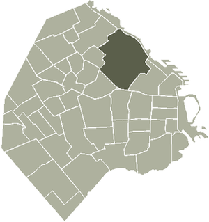 Location of Palermo within Buenos Aires