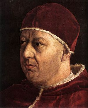 Detail of: Portrait of Pope Leo X and his cous...