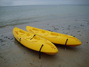 two Ocean Kayak sit-on-tops for two paddlers each.
