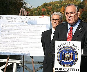 New York State Assemblymembers Robert Castelli...