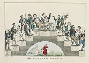 A lithograph by Nathaniel Currier supporting t...