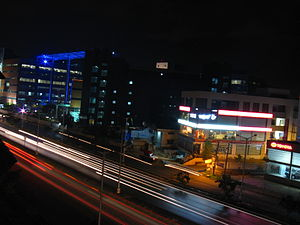 The night life of Bangalore captured from a ro...