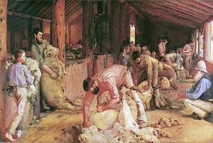 Tom Roberts' masterpiece, Shearing the Rams de...