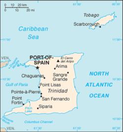 Vị trí của Trinidad và Tobago