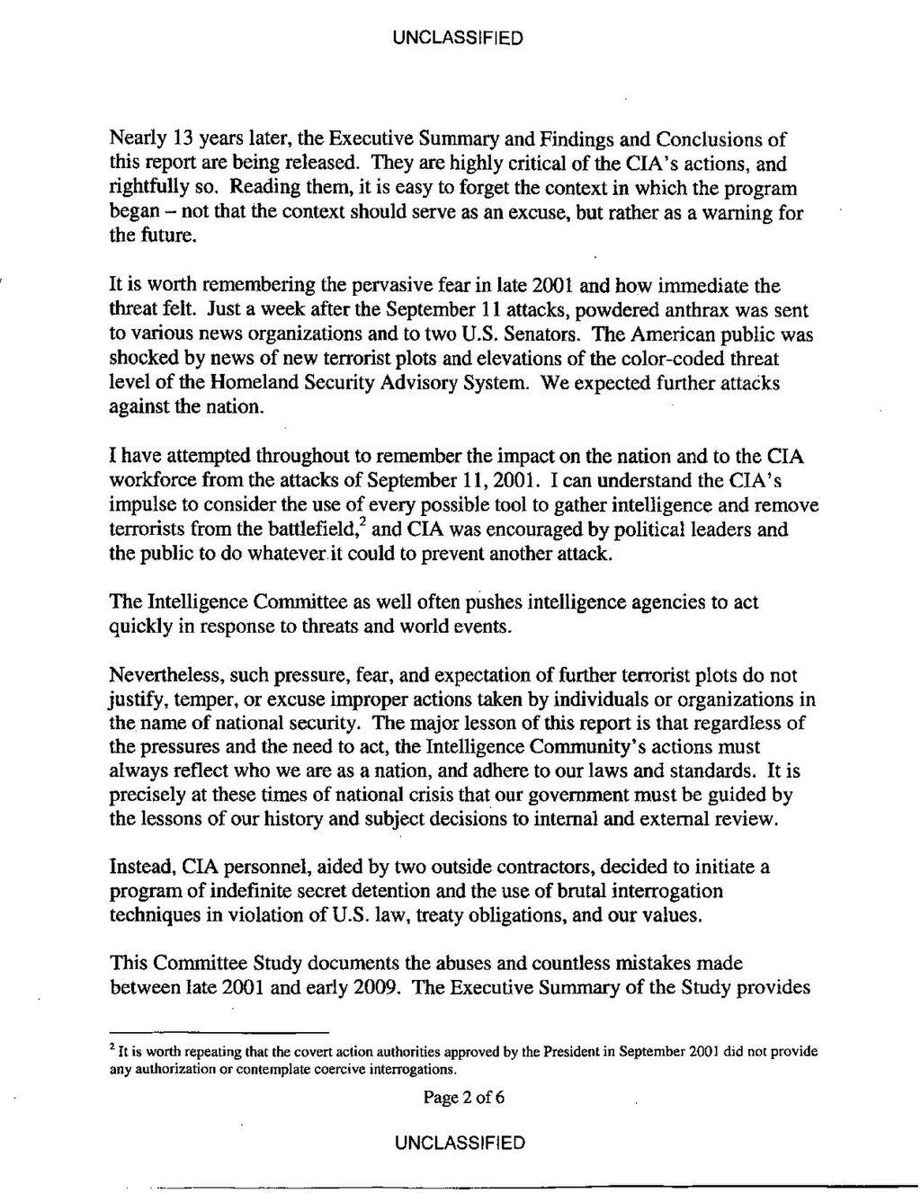 PageUS Senate Report on CIA Detention Interrogation