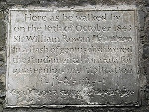 English: William Rowan Hamilton Plaque Plaque ...