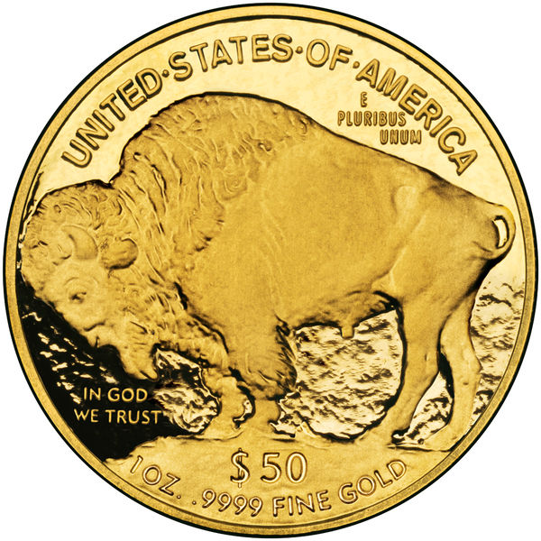 U.S.A. Gold Coin Reverse Side