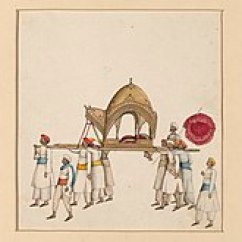 Sedan Chair Rental Rocking Covers Walmart Litter Vehicle Wikipedia A Covered Being Carried By Eight Or Nine Men Wearing White With Various Coloured Sashes And Turbans