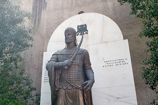 Athen - Denkmal Konstantin XI.