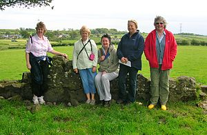 English: The Beith Ladies Walking Group at Hil...