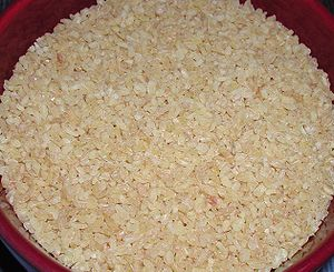 Bulgur from a turkish food store in Germany (P...