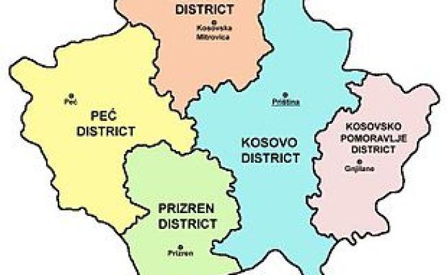 Distretti Del Kosovo Wikipedia