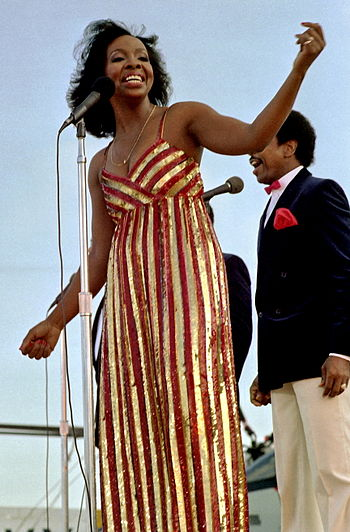 Gladys Knight and the Pips perform aboard the ...