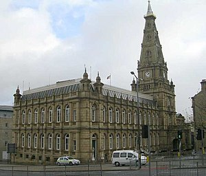 Town Hall, Halifax, West Yorkshire, England.