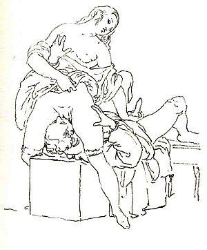 Drawing by Francesco Hayez. Español: Dibujo de...