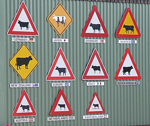 Description: Cow signs Date: 2005-09-07 (ISO 8...