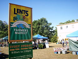 Lents Farmers' Market, at 92nd and Foster