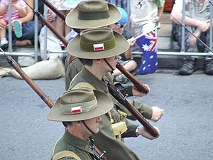 From this set of reports about Anzac Day 2007 ...