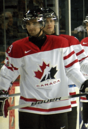 Canadian junior forward Nazem Kadri prior to a...
