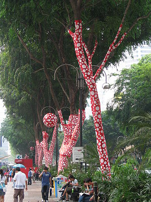 Singapore Biennale on Orchard Road, Singapore.