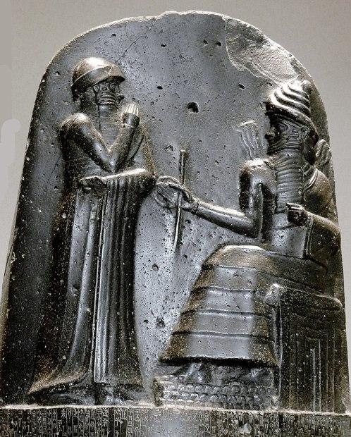 P1050771 Louvre code Hammurabi bas relief rwk