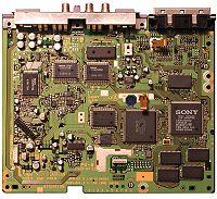 La scheda di sistema di una PlayStation modello SCHP7500