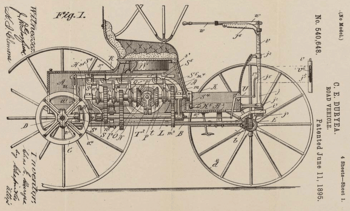 Patent Drawing for the Duryea Road Vehicle, 06...