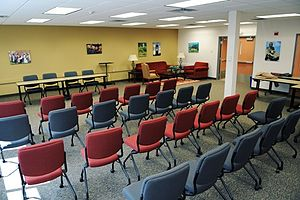 English: Presentation theater at TC Library