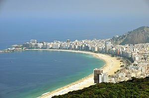 English: Copacabana Beach Rio de Janeiro view ...