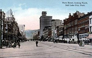 Downtown Salt Lake City in the early 1900s.