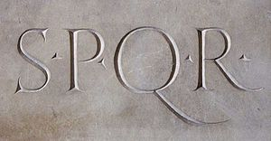 SPQR. Design: Philippe Remacle.