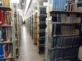 File:University of Massachusetts at Amherst library interior view of bookshelves.JPG